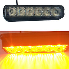 6 LED Car Truck Boat  Light Emergency Light Bar Hazard Strobe Warning Yellow