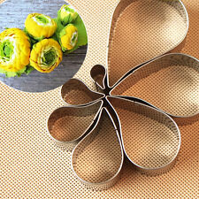 7pcs Stainless Steel Sugar Flower Mold Shape Fondant Cake Mold DIY Decor Tools