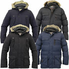 Boys Jacket Brave Soul Coat Kids School Padded Quilted Hooded Fish Tail Fur New