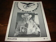 ERNEST TUBB - MAG COUNTRY MUSIC MEMORIAL N°7 !!!!!!!!!!