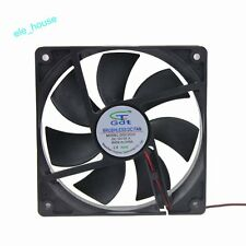 120mm * 25mm 12V 2-Pin 0.5A 120x120x25mm Hydraulic DC Brushless Cooling Fan NEW!