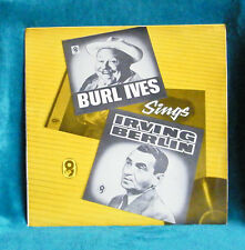 BURL IVES - VINYL LP - BURL IVES SINGS IRVING BERLIN