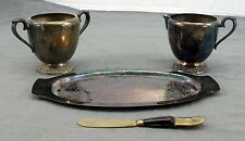 Avon WM Rogers Sugar Bowl Creamer Cup Serving Tray Siam Butter Spreader Set