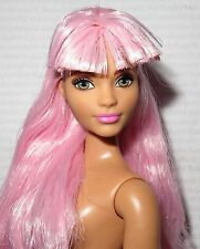 (B) NUDE BARBIE B~ CURVY PINK HAIR GREEN EYE FASHIONISTA EVOLUTION DOLL FOR OOAK