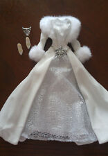BARBIE WHITE & SILVER JACKET/ RESS ENSEMBLE - 'HOLIDAY VISIONS 2003' -  PRETTY