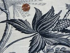 Zimmerman Corsica Black and Beige Toile Fabric 2 yards