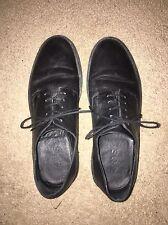 Plataforma de Cos Negro Cuero Con Cordones Zapatos Talla 5