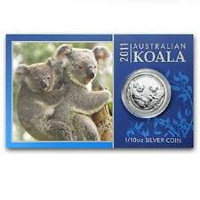 Perth Mint Australia $ 0.1 Koala 2011 1/10 oz .999 Silver Coin (with card)