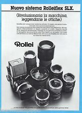 AIRONE982-PUBBLICITA'/ADVERTISING-1982- ROLLEI - ROLLEIFLEX SLX