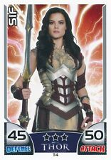 SIF/JAIMIE ALEXANDER T4 2011 Topps Attax Marvel THOR MIGHTY AVENGERS SP
