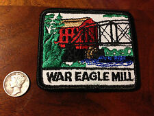 Vintage War Eagle Mill Benton County Arkansas Park Souvenir Travel Patch