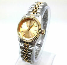 064S Women's Luxury Fashion Gold & Silver Strap Wrist Watch Small Dial Quartz