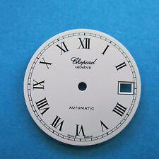 Original Chopard 1990s Automatic Matt White Watch Dial 27.5 mm NOS