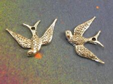 25 Swallow Flying Bird Large Charms Connector Pendants For Jewelry Making