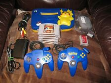 Pokemon Pikachu Edition Nintendo 64 Console Game Lot TESTED GAMES& EXTRAS! LOOK