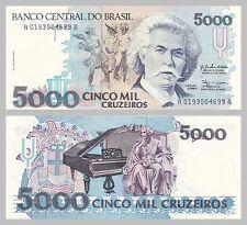 Brasile/brazil 5000 Cruzeiro 1990 p232a unz.