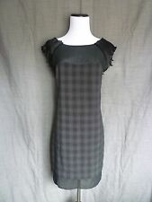 BCBG Gray Plaid Sweetheart Mini Shift Dress with Back Zip and Shoulder Detail- 2
