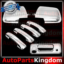 14-16 TOYOTA TUNDRA CREWMAX Chrome Mirror+4 Door Handle+Tailgate Camera Ho Cover