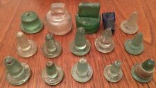 Collection of 15 Assorted Vintage Glass Bottle Stoppers, Various Sizes & Styles
