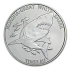 2015 Tokelau 1 oz Silver $5 Mokoha Great White Shark - SKU #86876