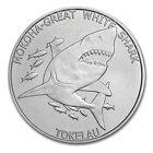 2015 Tokelau 1 oz Silver $5 Mokoha Great White Shark - SKU #86876