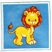 """5"""" PRECIOUS MOMENTS PETS LION JUNGLE ANIMAL WALL SAFE STICKER BORDER CUT OUT"""