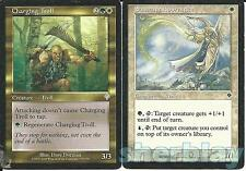 2 Magic the Gathering INVASION Cards Charging Troll & Sunscape Apprentice