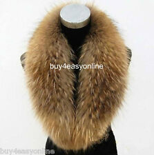 100cm Luxury Men Real Genuine Raccoon Fur Collar Scarf/Shawl/Wrap Neck Warmer
