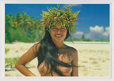 Postcard Risque Sexy Nude Beach Girl Topless Cute Hawaii Vintage Post Card #2489