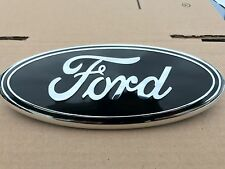 NEW 2004 - 2014 FORD F-150 BLACK OVAL FRONT GRILLE OR REAR TAILGATE 9 INCH LOGO