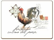 Watercolor Rooster Paper Placemats, 24 Count