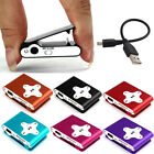 Fashion Mini Clip Metal USB MP3 Player Support 32GB Micro SD TF Card Music Media
