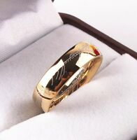 Movie Lord of the Rings 1:1 Gold Tungsten Carbide Jewelry ring Toy New in Box