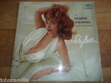 """THE GEORGE SHEARING QUINTET AND ORCHESTRA - WHITE SATIN 12""""LP - CAPITOL - T 1334"""