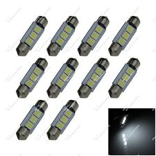 10X White 36MM 6476 6418 3 SMD 5050 LED Reading Light Trailer Lamps Auto ZI102