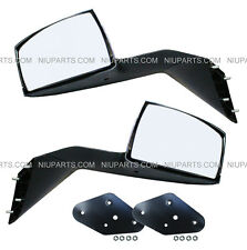 Volvo VNL VNM Hood Mirror Chrome Driver & Passenger Side with Mounting Kits