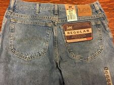 NWT~Men's 34 x 30 Lee Jeans~Classic Stonewash~Regular Fit, Comfort Waist~2 Avail