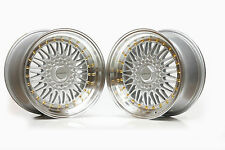 "ULTRALITE RS 17"" SPLITS 5x100 4x100 SILVER GOLD BBS STYLE ALLOY WHEELS Z2358/9"