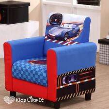 Toddlers Boys DISNEY Racing CAR SOFA Blue Couch BEDROOM Childrens FURNITURE NEW