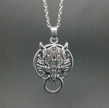 silver Wolf Head leaf pendant alloy necklace women girl necklace friend gift!@