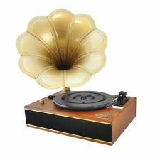 Classic Edison Style Horn Phonograph / Turntable Record Player - PC Recording