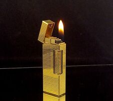 1974 dunhill ROLLAGAS Gold Hobnail model Lighter - SERVICED & Guaranteed