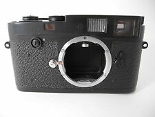 LEICA M-2 BUTTON REWIND REFINISHED IN BLACK CHROME WORKS GREAT JUST HAD CLA