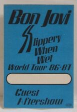 JON BON JOVI / RICHIE SAMBORA - OLD BON JOVI TOUR CONCERT CLOTH BACKSTAGE PASS