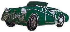 Triumph TR3A/B car cut out lapel pin - Green