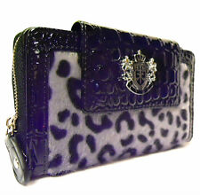 PL075 BLACK LYDC Designer Animal Leopard Print Croc Lady Wallet Purse Boxed