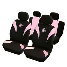 Universal Car Seat Cover Set PINK LADY BIRD VELOUR Lavabile adatti airbag