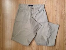 TOMMY HILFIGER BEIGE CAMEL CHINOS VTG RETRO TROUSERS W30