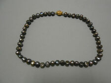 Collar PERLA RIO GRIS barroca 8mm (C-032)
