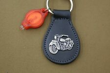 INDIAN MOTORCYCLES GENUINE NOS LEATHER KEY CHAIN FOB CHIEF SCOUT FOUR # 003